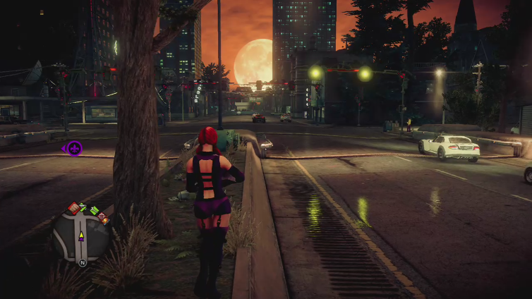 Lady Moxxxi playing Saints Row IV: Re-Elected (AU)